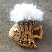 Куклы и игрушки ручной работы. Ярмарка Мастеров - ручная работа Рыба-кружка))). Handmade.