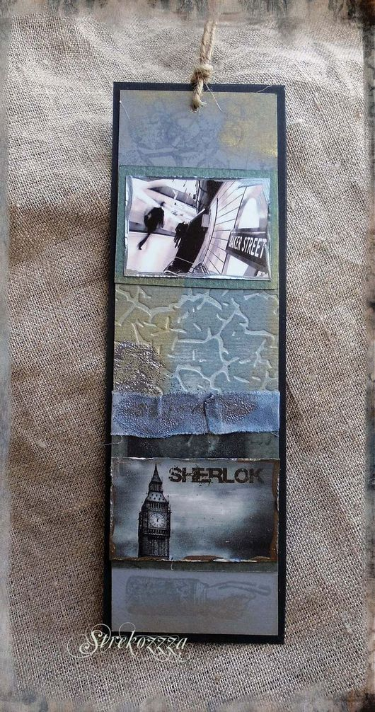 """Закладки для книг ручной работы. Ярмарка Мастеров - ручная работа. Купить Закладки из коллекции """"Шерлок и Лондон"""" (№ 13). Handmade."""