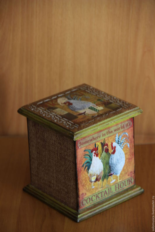 Кухня ручной работы. Ярмарка Мастеров - ручная работа. Купить Короб для хранения. Handmade. Коричневый, ретро стиль