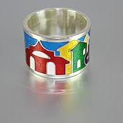Украшения handmade. Livemaster - original item The ring Is made of 925 sterling silver and enamel. Handmade.
