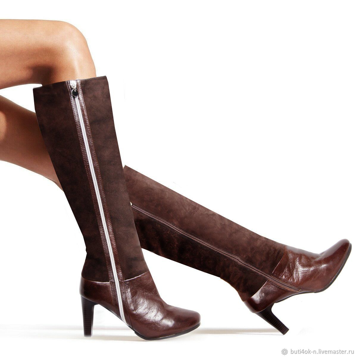 37 size! Winter boots made of genuine leather and velour, High Boots, Nelidovo,  Фото №1