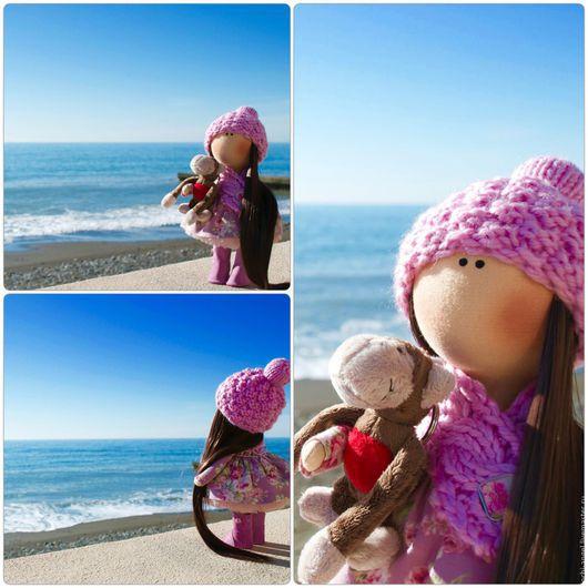 Куклы тыквоголовки ручной работы. Ярмарка Мастеров - ручная работа. Купить Интерьерная кукла. Handmade. Бледно-розовый, день рождения