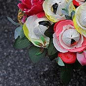 """Цветы и флористика ручной работы. Ярмарка Мастеров - ручная работа Букет из конфет """"Птичка певчая"""" корзина с цветами ночь. Handmade."""