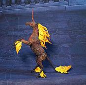 Для дома и интерьера ручной работы. Ярмарка Мастеров - ручная работа Огненный единорог Статуэтка (красный оранжевый черный ) лошадь. Handmade.