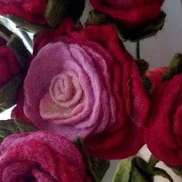 Свадебный салон ручной работы. Ярмарка Мастеров - ручная работа Цветы из войлока. Валяный букет. Букет роз. Handmade.