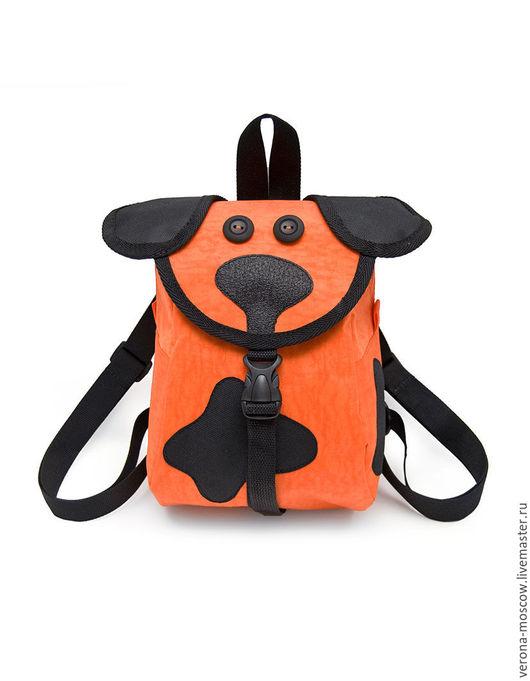 Рюкзаки ручной работы. Ярмарка Мастеров - ручная работа. Купить Рюкзак Собачка Рыжая. Handmade. Оранжевый, рюкзачок детский