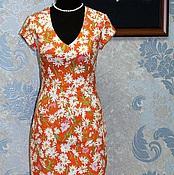 Одежда handmade. Livemaster - original item Bodycon dress with retro style