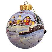 """Подарки к праздникам ручной работы. Ярмарка Мастеров - ручная работа Елочный шар """" Новогоднее волшебство"""". Handmade."""