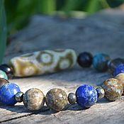 handmade. Livemaster - original item For good luck and Prosperity - charm bracelet with Dzi 9 eye Turtle. Handmade.