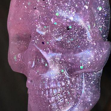 Косметика ручной работы. Ярмарка Мастеров - ручная работа Мыло: Розовый блестящий череп. Handmade.