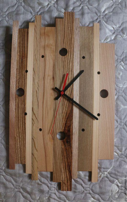 Часы для дома ручной работы. Ярмарка Мастеров - ручная работа. Купить Часы настенные. Handmade. Желтый, часы в подарок, бук