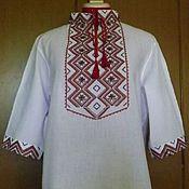 Одежда handmade. Livemaster - original item Men`s embroidered shirt MP3-114. Handmade.