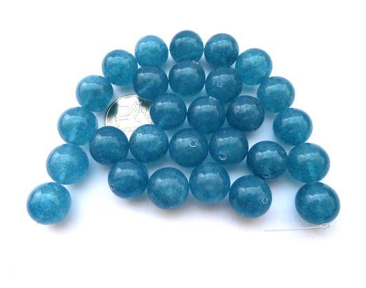 Для украшений ручной работы. Ярмарка Мастеров - ручная работа. Купить Кварц 28 камней набор голубой бусины гладкий шар 14 мм (тонированный). Handmade.