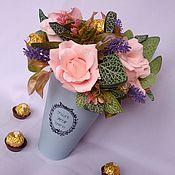 Цветы и флористика ручной работы. Ярмарка Мастеров - ручная работа Букет из конфет на свадьбу, подарок на годовщину, бумажная свадьба. Handmade.