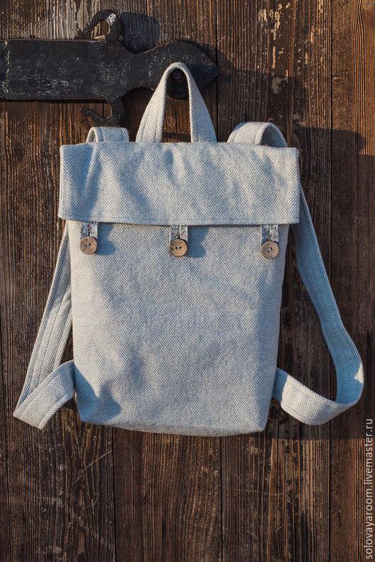 Рюкзаки ручной работы. Ярмарка Мастеров - ручная работа. Купить Шерстяной рюкзак голубой. Handmade. Голубой, шерсть