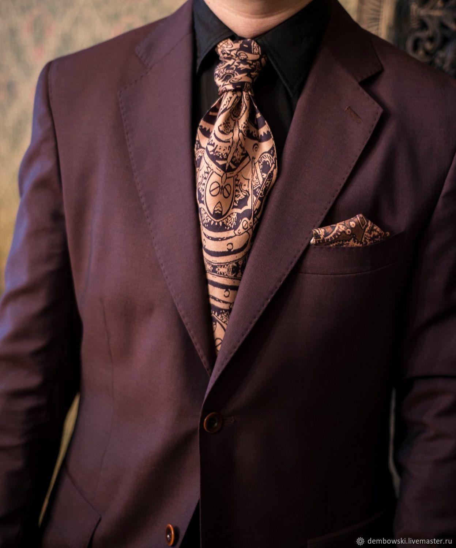 Галстук Аскот (Крават) шелковый, дизайнерский, Галстуки, Москва,  Фото №1