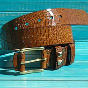 Аксессуары handmade. Livemaster - original item Men`s Leather belt Italica D.. Handmade.