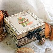 """Для дома и интерьера ручной работы. Ярмарка Мастеров - ручная работа Шкатулка для печенья, сладостей """" Бисквит с кремом"""". Handmade."""