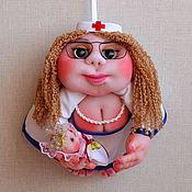 Мягкие игрушки ручной работы. Ярмарка Мастеров - ручная работа Кукла на удачу Попик Доктор медсестра акушер гинеколог медик медицина. Handmade.