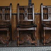 Для дома и интерьера ручной работы. Ярмарка Мастеров - ручная работа Астикварный стул с кожей. Handmade.