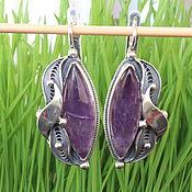 Украшения handmade. Livemaster - original item Classic Macaulay earrings with amethysts in 925 silver HH0022-3. Handmade.