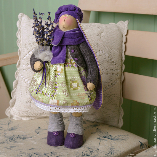 Куклы Тильды ручной работы. Ярмарка Мастеров - ручная работа. Купить Лавандовая зайка. Handmade. Зайка, Лавандовый ангел, прованс
