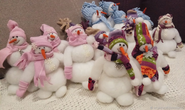 """Новогодняя игрушка из синтепона """"Весёлый снеговик"""", Снеговики, Севастополь,  Фото №1"""