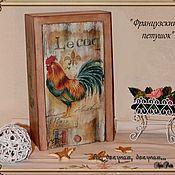 Подарки к праздникам ручной работы. Ярмарка Мастеров - ручная работа Пенал  для кухни Французский петушок. Handmade.