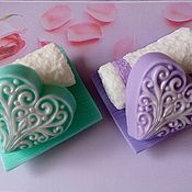 Косметика ручной работы handmade. Livemaster - original item Soap Set with Openwork heart. Handmade.