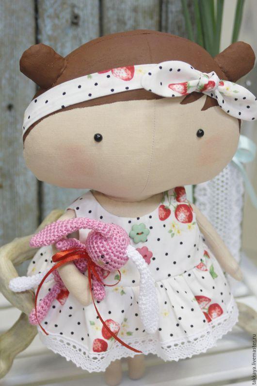 Куклы Тильды ручной работы. Ярмарка Мастеров - ручная работа. Купить Милая Тильда. Handmade. Ярко-красный, ягода, милая