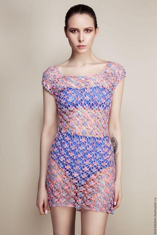 Платье-туника Glam Knitting kitchen `Golubka`