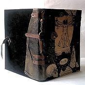 """Канцелярские товары ручной работы. Ярмарка Мастеров - ручная работа Ежедневник кожаный """"Леонардо"""" именной для хирурга. Handmade."""