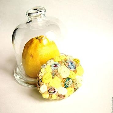 """Украшения ручной работы. Ярмарка Мастеров - ручная работа брошь """"Лимонные дольки"""" желтая с цитрином. Handmade."""