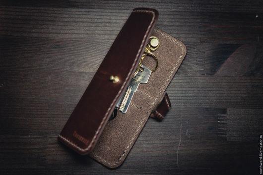 Футляры, очечники ручной работы. Ярмарка Мастеров - ручная работа. Купить Кожаный чехол для ключей. Handmade. Натуральная кожа