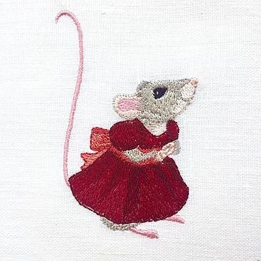 """Для дома и интерьера ручной работы. Ярмарка Мастеров - ручная работа Мешочек с вышивкой """"Мышка"""". Handmade."""