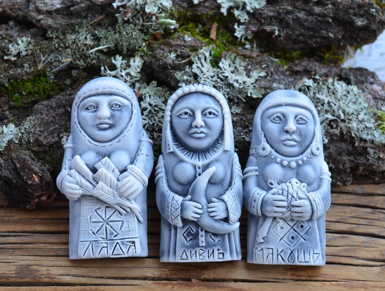 Богиня МАКОШЬ, ДИВИЯ, ЛАДА мрамор, МАГНИТ, Минералы, Изумруд,  Фото №1