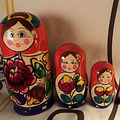 Русский стиль handmade. Livemaster - original item Matryoshka 5 PCs (16 cm tall..). Handmade.