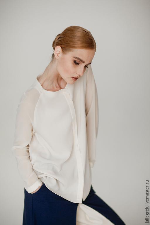 Блузки ручной работы. Ярмарка Мастеров - ручная работа. Купить Блузка. Handmade. Блузка, блузка нарядная, рубашка, дизайнерская блузка