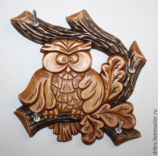 """Прихожая ручной работы. Ярмарка Мастеров - ручная работа. Купить Ключница """"Совушка"""". Handmade. Сова, ключница ручной работы, коричневый"""