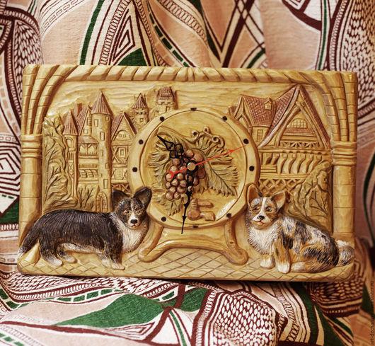 Часы для дома ручной работы. Ярмарка Мастеров - ручная работа. Купить Волшебный город. Handmade. Часы, резьба по дереву