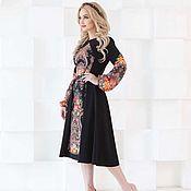Одежда handmade. Livemaster - original item Elegant dress, black dress out of a handkerchief. Handmade.