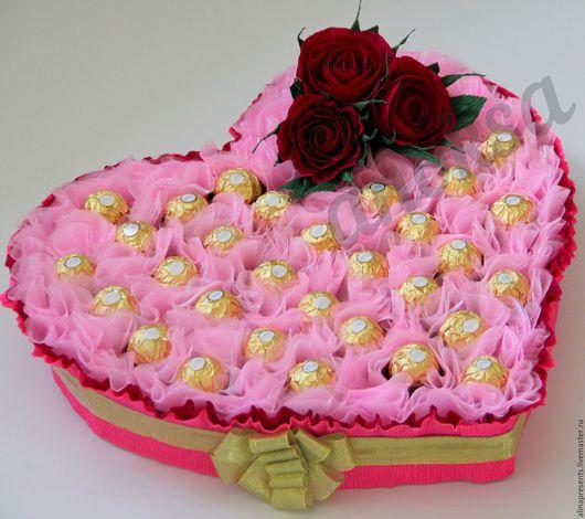 Подарки для влюбленных ручной работы. Ярмарка Мастеров - ручная работа. Купить сладкое сердце. Handmade. Разноцветный, Сердце для любимой