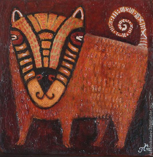 """Персональные подарки ручной работы. Ярмарка Мастеров - ручная работа. Купить """"Добрый зверь из семейства кошачих"""", авторская печать. Handmade."""