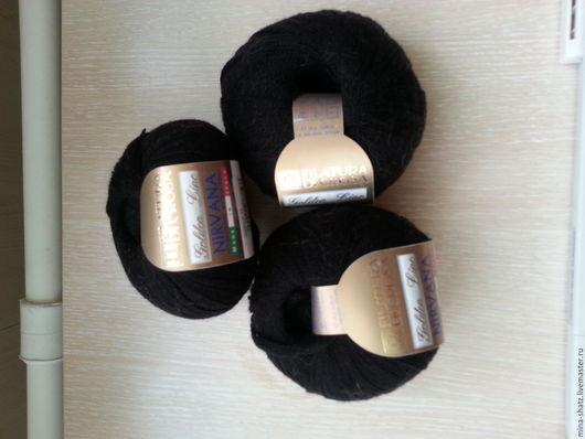 Вязание ручной работы. Ярмарка Мастеров - ручная работа. Купить Пряжа для вязания NIRVANA FILATURA DI CROSA черная шерсть. Handmade.