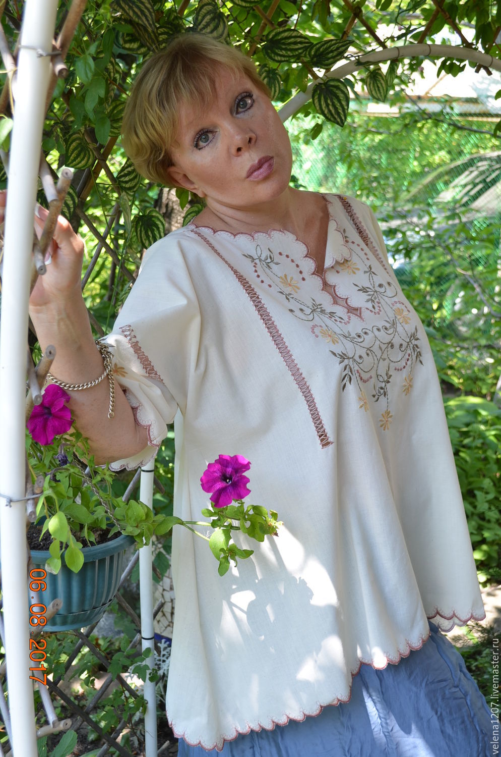 Embroidered blouse 'Russian melody', Blouses, Shahty,  Фото №1