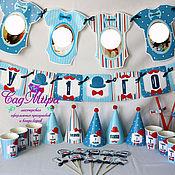 Подарки к праздникам ручной работы. Ярмарка Мастеров - ручная работа атрибутика для дня рождения маленький джентельмен. Handmade.