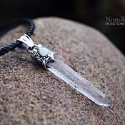Украшения handmade. Livemaster - original item Suspension with rock crystal. Handmade.