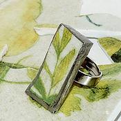"""Украшения ручной работы. Ярмарка Мастеров - ручная работа Кольцо """"Счастливая зелень"""" керамика. Handmade."""
