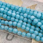 Материалы для творчества handmade. Livemaster - original item 10 PCs. Jadeite tint. 4 mm aquamarine (art. 3194). Handmade.