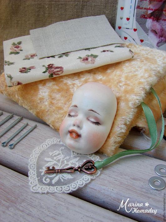 """Куклы и игрушки ручной работы. Ярмарка Мастеров - ручная работа. Купить Набор тедди-долл """"спящий зайка"""". Handmade. Бежевый"""